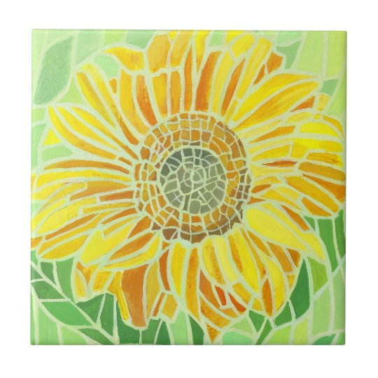 Sunflower Mosaic Tyle Small Square Tile