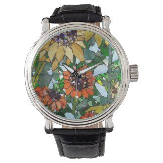 Sunflower Mosaic Watch by Willowcatdesigns