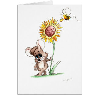 Sunflower Mouse Card