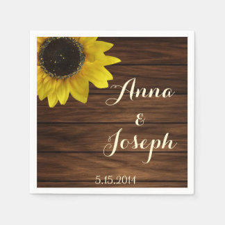 Sunflower napkins paper napkins