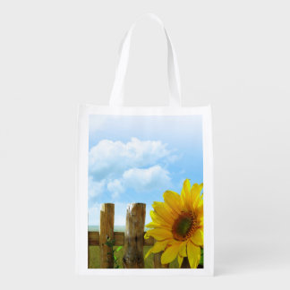 Sunflower Nature Beauty Reusable Grocery Bag