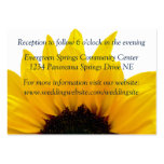 Sunflower Navy Wedding Reception Insert Pack Of Chubby Business Cards