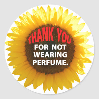 Sunflower No Perfume Classic Round Sticker