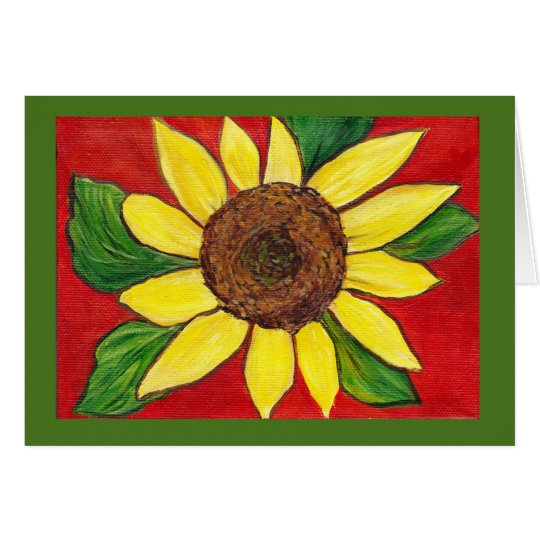 Sunflower Note Card