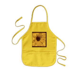 sunflower oldstyle kids apron