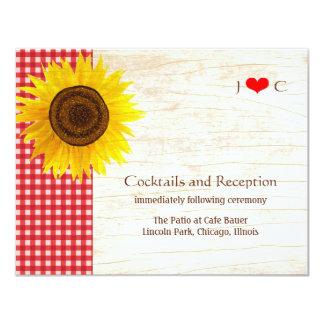 Sunflower on Birch Bark Rustic Country Wedding Card
