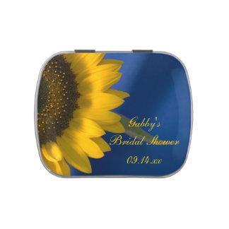Sunflower on Blue Bridal Shower Favor Candy Tin