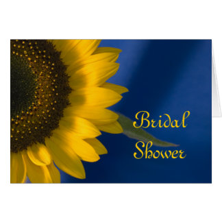 Sunflower on Blue Bridal Shower Invitation Greeting Card