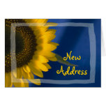 Sunflower on Blue Change of Address