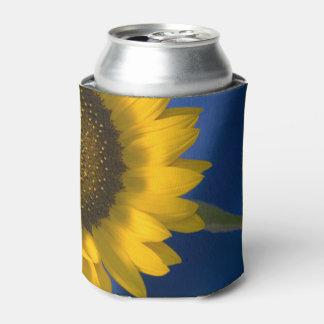 Sunflower on Blue Wedding Favor Can Cooler