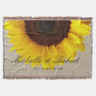 Sunflower on Burlap Rustic Country Wedding Custom