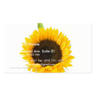 Sunflower On White Background Pack Of Standard Business Cards