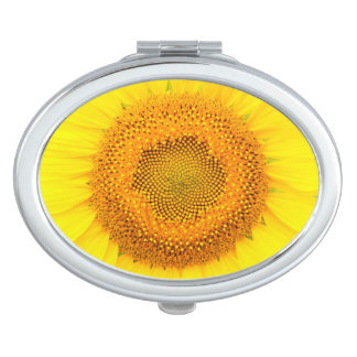 Sunflower Oval Compact Mirror