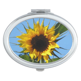 Sunflower - Oval Compact Mirror