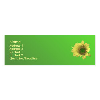 Sunflower Pack Of Skinny Business Cards