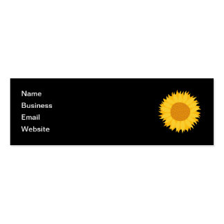 Sunflower. Pack Of Skinny Business Cards