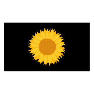 Sunflower. Pack Of Standard Business Cards