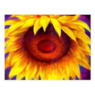 Sunflower Painting Art - Multi Postcard