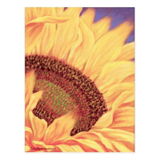 Sunflower Painting Flower Art - Multi Post Card