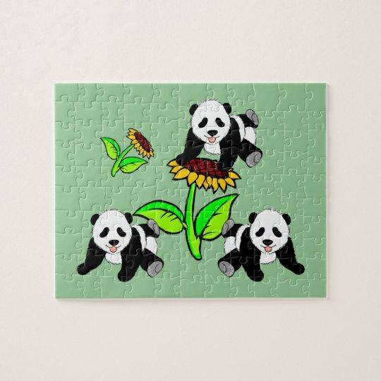Sunflower Pandas Jigsaw Puzzle