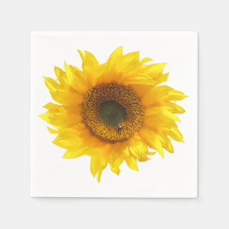 sunflower paper napkin