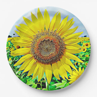 Sunflower Party Paper Plates