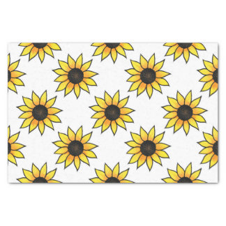 Sunflower Pattern Tissue Paper