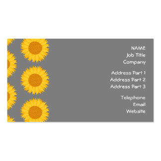 Sunflower Pattern. Yellow and Gray. Business Card Templates