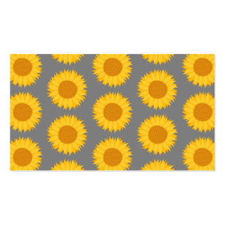 Sunflower Pattern. Yellow and Gray. Pack Of Standard Business Cards