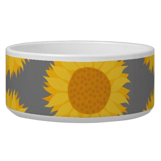 Sunflower Pattern. Yellow and Grey.