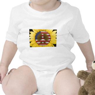 Sunflower Peace Sign Tee Shirts