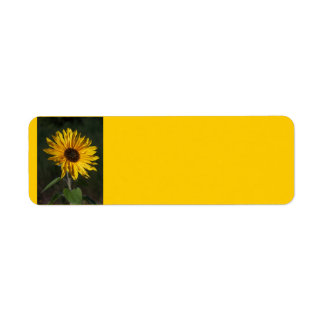 Sunflower Perfect Avery Label Return Address Label