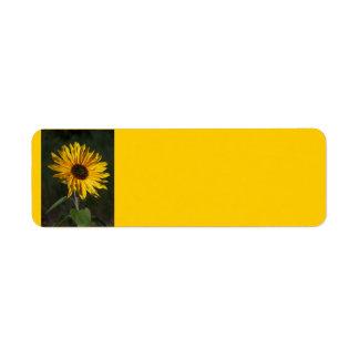Sunflower Perfect Avery Label Return Address Label