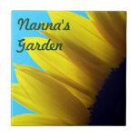 Sunflower Personalised Garden Tile