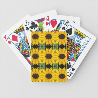 Sunflower Photo Pattern Deck Of Cards
