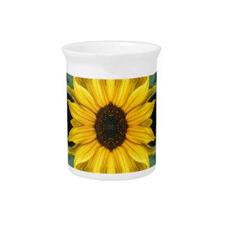 Sunflower Photo Pattern Pitcher
