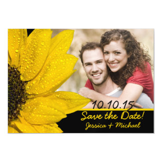 Sunflower Photo Wedding Save the Date Magnet Magnetic Invitations