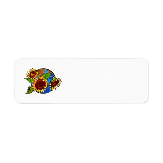 Sunflower Planet Return Address Label