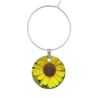 Sunflower Plant Wine Charm