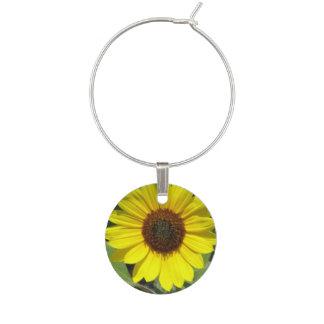 Sunflower Plant Wine Glass Charm