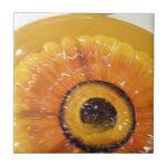 Sunflower plate setting ceramic tiles
