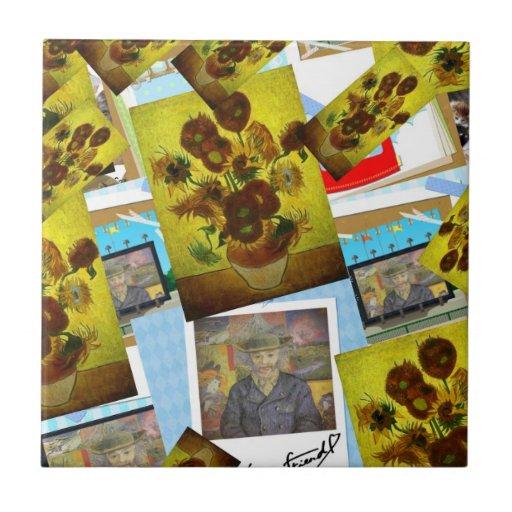 Sunflower pop tiles