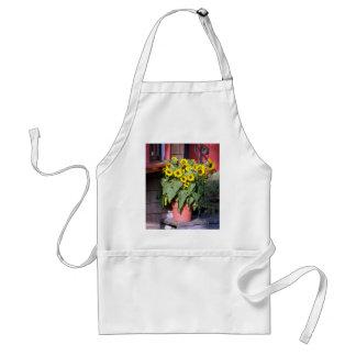 Sunflower Pot Apron, Artist Smock Standard Apron