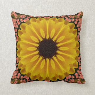 Sunflower Power. Throw Pillow