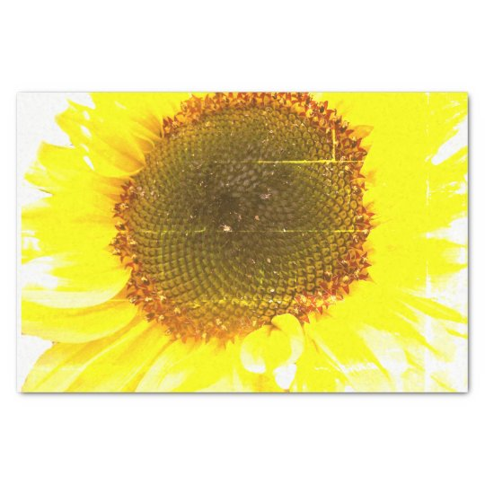 Sunflower Print Tissue Paper