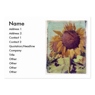 Sunflower profile card business card template