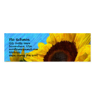 Sunflower Profile Card Pack Of Skinny Business Cards