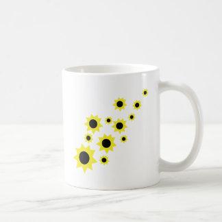 sunflower rain icon coffee mug
