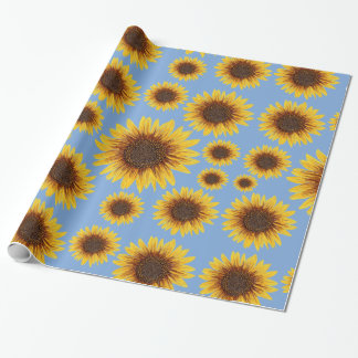 Sunflower Rain Wrapping Paper