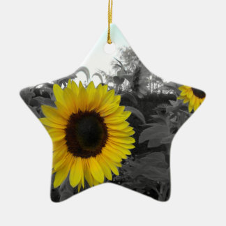 Sunflower Recolored Ceramic Star Decoration